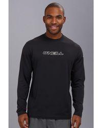 O'neill Sportswear Basic Skins L/s Rash Tee - Black