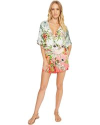 Green Dragon - Hibiscus Sublime Eliza Kimono Sleeve Romper (multi) Women's Jumpsuit & Rompers One Piece - Lyst