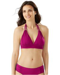Tommy Bahama Pearl Loop Strap Banded Halter Top - Red