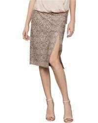 BCBGMAXAZRIA Python Knit Pencil Skirt - Multicolor