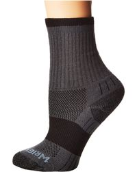 Wrightsock - Dl Escape Crew (black W/ Pct Logo 1) No Show Socks Shoes - Lyst