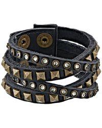 Leatherock - B340 (vintage Black) Bracelet - Lyst