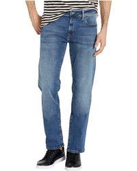 Mavi Zach Straight Leg In Mid Brushed Cashmere - Blue