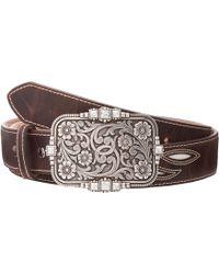 Ariat Cream Underlay Design Belt - Brown