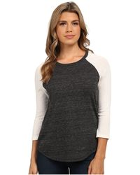 Alternative Apparel - Eco Jersey Baseball T-shirt (eco Oatmeal/eco Black) Women's T Shirt - Lyst