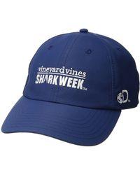 Vineyard Vines - Shark Week Performance Baseball Hat (moonshine) Caps - Lyst 703df1dbf0b8
