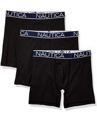 Nautica 3-pack Classic Underwear Cotton Stretch Boxer Brief - Black