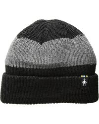 Smartwool - Snow Seeker Ribbed Cuff Hat (charcoal Heather) Beanies - Lyst