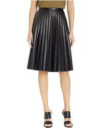 J.Crew Faux-leather Pleated Midi Skirt - Black