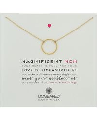 Dogeared - Magnificent Mom, Little Sparkle Karma Necklace - Lyst