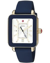 Michele - Deco Sport Navy Silicone Watch (navy) Watches - Lyst