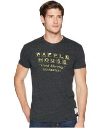 The Original Retro Brand - Short Sleeve Vintage Tri-blend Waffle House Tee (streaky Black) Men's T Shirt - Lyst