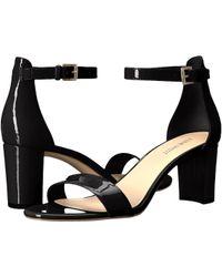 Nine West - Pruce Block Heel Sandal (black Fez Nappa) High Heels - Lyst