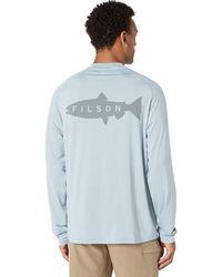 Filson Long Sleeve Barrier T-shirt - Blue
