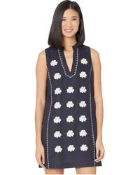 Tory Burch Embroidered Beach Dress With Pockets - Blue