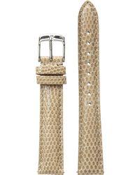 Michele - 16mm Cashmere Lizard Watch Strap (cashmere) Watches - Lyst