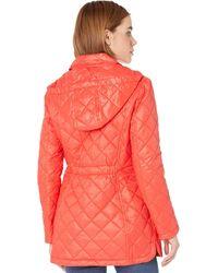 Sam Edelman Quilted Jacket With Detachable Hood - Orange