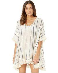 Michael Stars Ebony Cover-up (chalk Stripe) Women's Swimwear - White