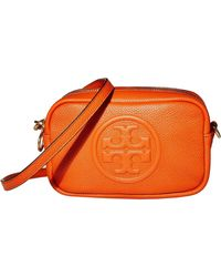 Tory Burch - Perry Bombe Leather Crossbody Bag - Lyst