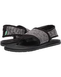 Sanuk Yoga Sling 3 Knit Sandal - Black