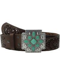 Ariat - Southwest Cross Buckle Pierced Belt (brown) Women's Belts - Lyst