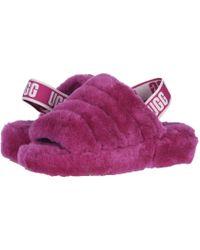48604566b10 UGG Fluff Yeah Slide in Pink - Lyst