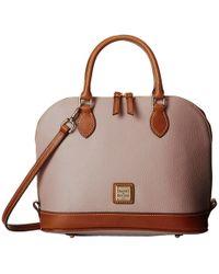 Dooney & Bourke - Pebble Zip Zip Satchel (oyster W/ Tan Trim) Satchel Handbags - Lyst