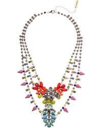 Steve Madden Multi-layer Floral Bib Necklace - Multicolor