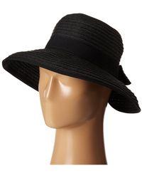 San Diego Hat Company Pbm1026 Sunbrim W/ Back Bow And Contrast Edging - Black