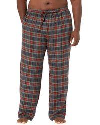L.L. Bean Scotch Plaid Flannel Sleep Pants Tall - Gray