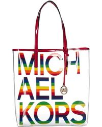 5eb33ad93 MICHAEL Michael Kors - The Michael Large Clear & Rainbow Tote - Lyst