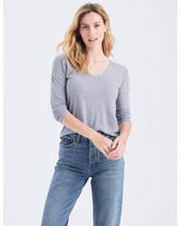 Abercrombie & Fitch Long-sleeve V-neck Tee - Blue