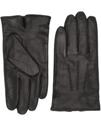 BOSS by Hugo Boss Lined Gloves In Nappa Leather With Stitched Details - Black