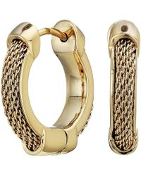 Lauren by Ralph Lauren - Mesh Hoop Earrings (gold) Earring - Lyst