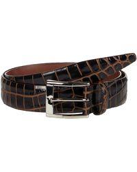 Torino Leather Company 35 Mm Italian Bicolor Croc Embossed Calf - Brown