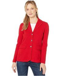 Lauren by Ralph Lauren Sweater Knit Blazer - Red