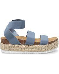 Steve Madden Kimmie Espadrille Sandal Shoes - Blue