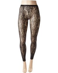 Falke - Orange Flower Leggings (black) Hose - Lyst
