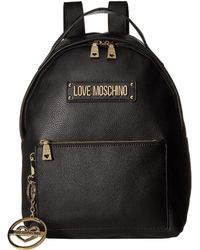 Love Moschino - Classic Leather Backpack (black) Backpack Bags - Lyst