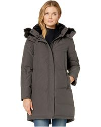 Vince Camuto Chevron Quilted Down Parka - Gray