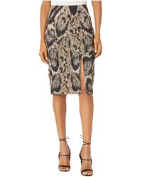 Yigal Azrouël Leopard Printed Scuba Skirt - Natural