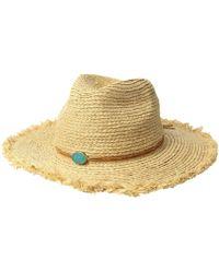 San Diego Hat Company - Rhf6125os Raffia Braid W/ Stone Trim - Lyst