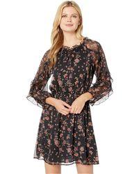 87659a3da0 Cece - Long Sleeve Ruffled Bohemian Garden Dress (rich Black) Women s Dress  - Lyst