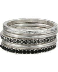 Madewell Filament Stacking Rings - Metallic