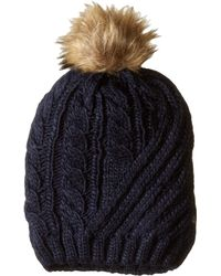 Lauren by Ralph Lauren - Engineered Cable Hat (ivory) Cold Weather Hats - Lyst