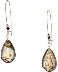 Robert Lee Morris - Abalone Teardrop Stone Long Drop Earrings (abalone) Earring - Lyst