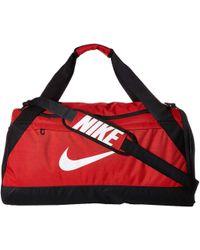 Nike - Brasilia Medium Duffel Bag (black/black/olive Flak) Duffel Bags - Lyst