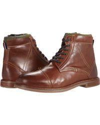 Ben Sherman Leon Cap Toe Boots - Brown