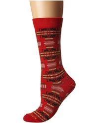 Pendleton Chief Joseph Crew (indigo/navy) Crew Cut Socks Shoes - Red