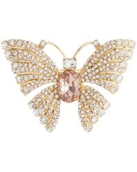 Lauren by Ralph Lauren Boxed Butterfly Pin Brooches Pins - Pink